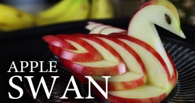 How to Make Decorative and Edible Apple Swan