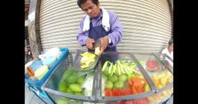 Street Vendor Impressive Knife Skills