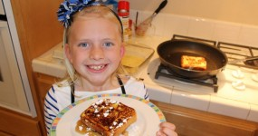 Kid Size Cooking:  French Toast