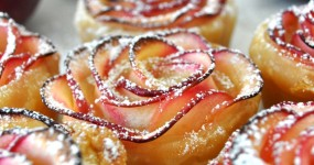 Rose Shaped Apple Baked Dessert